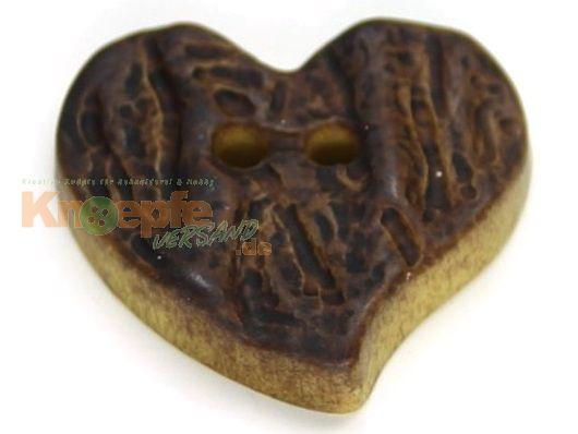 Trachtenknopf `Herz`, 23mm