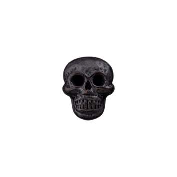Metallknopf `Totenkopf`
