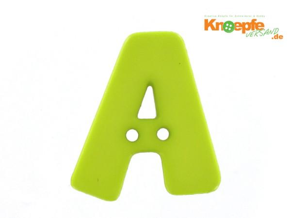 Buchstabenknopf A - grün