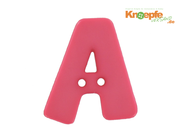 Buchstabenknopf A - pink