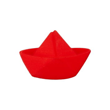 Kinderknopf - Faltboot, Rot