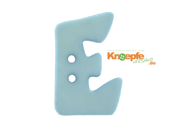 Buchstabenknopf E - hellblau