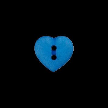 Kinderknopf `Herz`- Kornblau