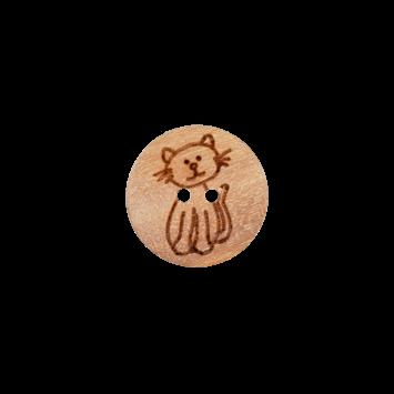Kinderknopf `Katze`