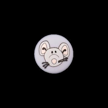 Kinderknopf`Maus`, lila