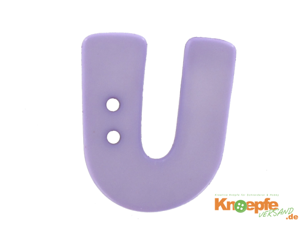 Buchstabenknopf U - lila