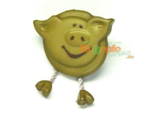 Schweinchenknopf, Olivgrün