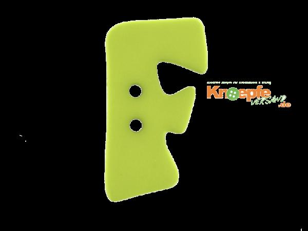 Buchstabenknopf F - grün