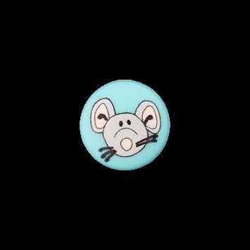 Kinderknopf`Maus`, türkis