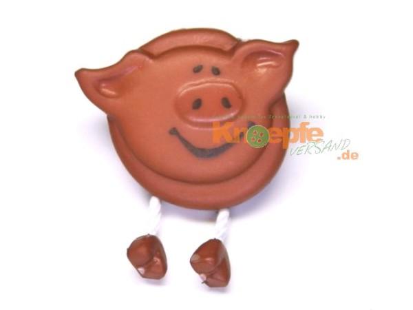Schweinchenknopf, Braun