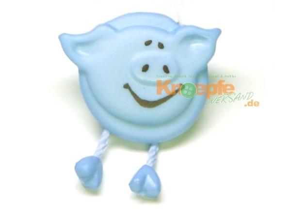 Schweinchenknopf, Hellblau