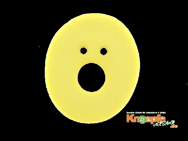 Buchstabenknopf O - gelb