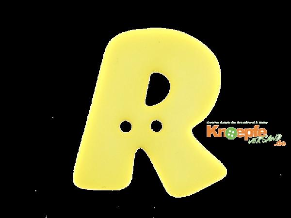 Buchstabenknopf R - gelb