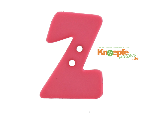 Buchstabenknopf Z - pink