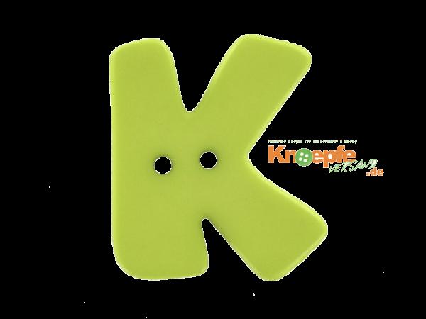 Buchstabenknopf K - grün