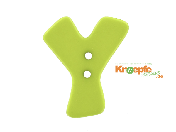 Buchstabenknopf Y - grün