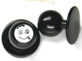 Kochknopf `Stoned Smiley` - 17mm