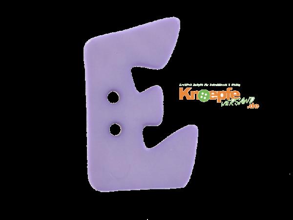 Buchstabenknopf E - lila
