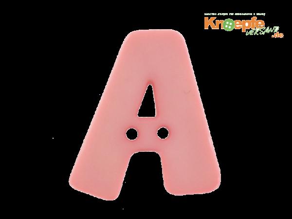Buchstabenknopf A - rosa