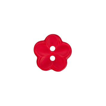 Kinderknopf `Blume` - Rot