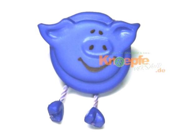 Schweinchenknopf, Kornblau