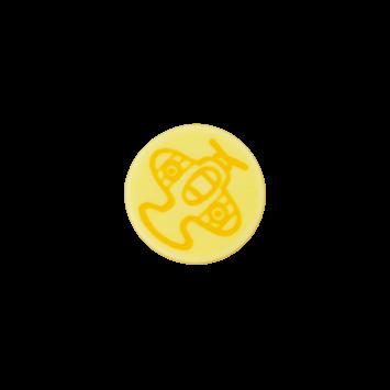 Kinderknopf `Flugzeug`- Gelb