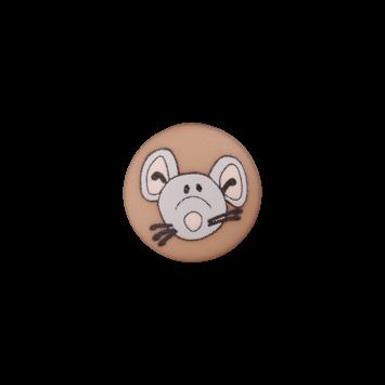 Kinderknopf`Maus`, braun