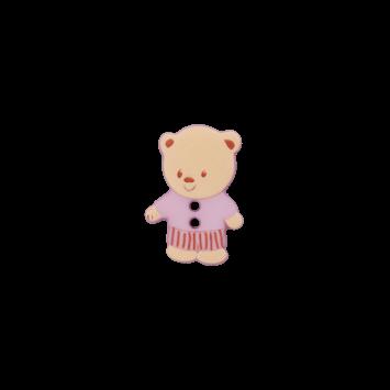 Kinderknopf `Bärchen`, lila
