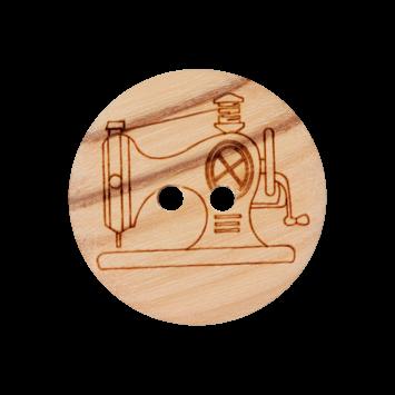 Holzknopf `Nähmaschine`