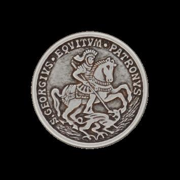 Metallknopf `S.Georgius Equitum Patronys`, 23mm