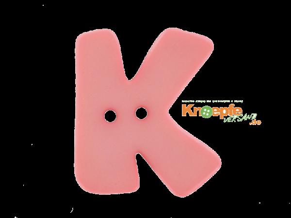 Buchstabenknopf K - rosa