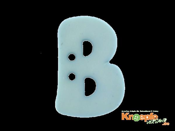 Buchstabenknopf B - hellblau