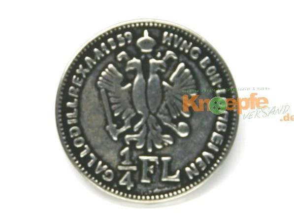 Münzknopf `1/4 Gulden` - 23mm