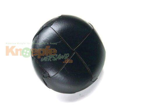 Lederknopf `geflochten, schwarz, 23mm`