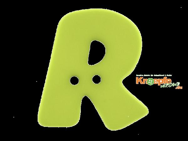 Buchstabenknopf R - grün