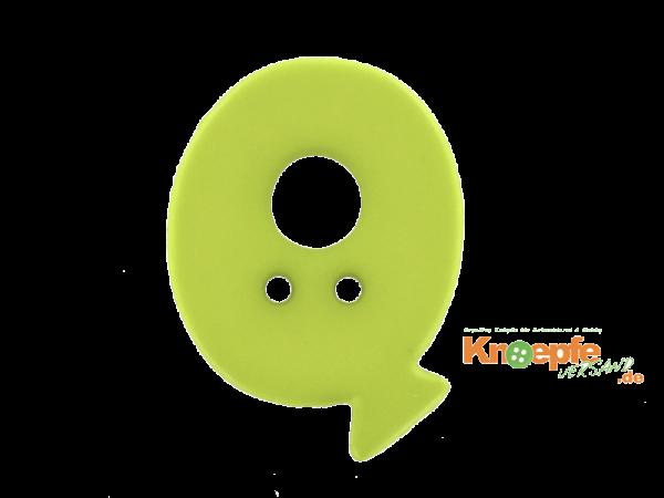 Buchstabenknopf Q - grün