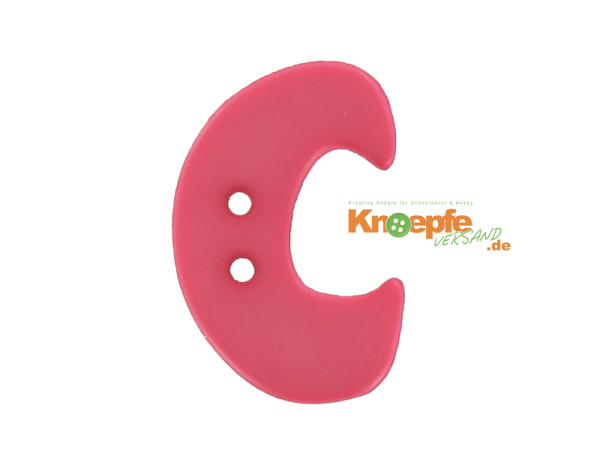 Buchstabenknopf C - pink