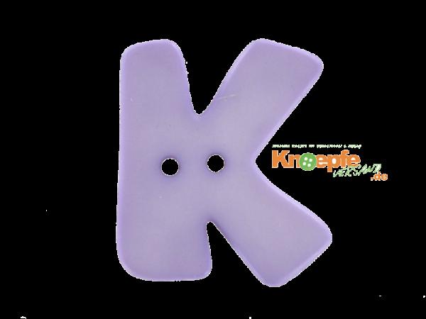 Buchstabenknopf K - lila