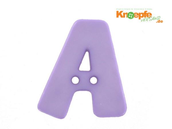 Buchstabenknopf A - lila