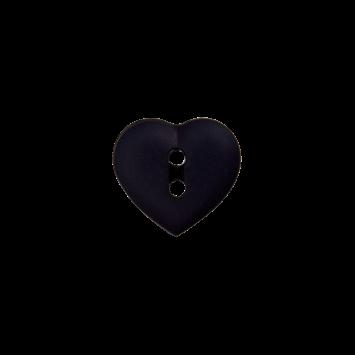 Kinderknopf `Herz`- Dunkelblau