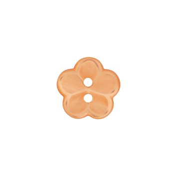 Kinderknopf `Blume` - Orange