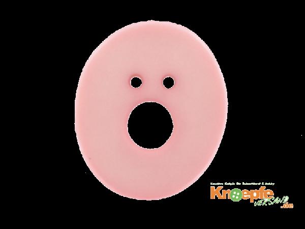 Buchstabenknopf O - rosa
