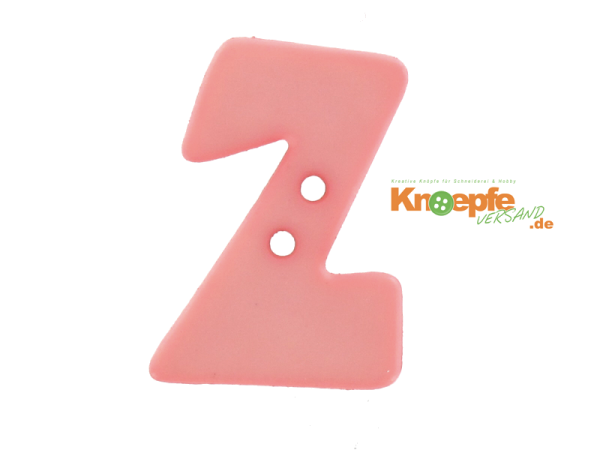 Buchstabenknopf Z - rosa