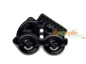 Kinderknopf - Feuerwehrauto, Schwarz