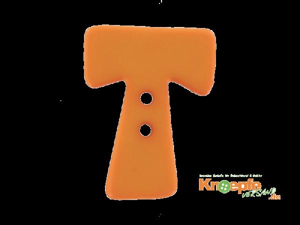 Buchstabenknopf T - orange