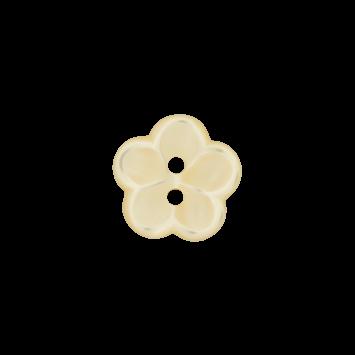 Kinderknopf `Blume` - Gelb