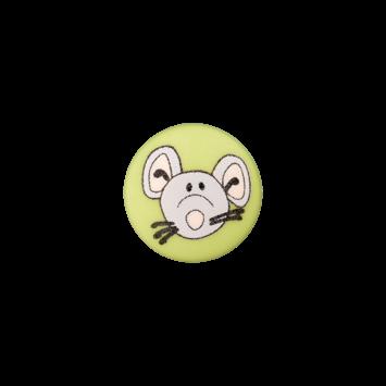 Kinderknopf`Maus`, hellgrün