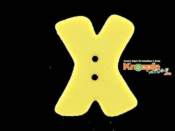 Buchstabenknopf X - gelb
