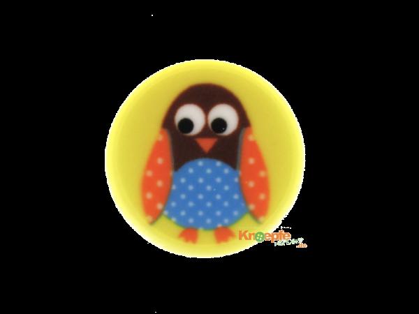 Kinderknopf `Piepmatz` - Gelb
