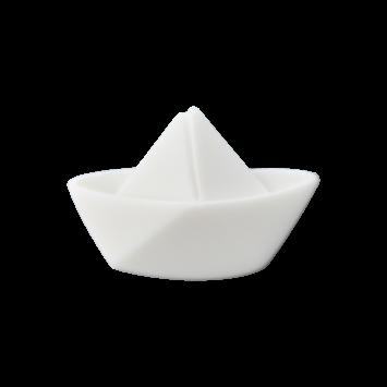Kinderknopf - Faltboot, Weiß